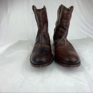 Frye Women Brown Zipper Boot Size 7